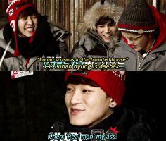 EXO Chen Luhan Chanyeol Kai Kris @ EXO's Showtime ep 10 hahahaha