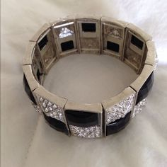 rhinestone bracelet NWOT Add a touch of elegance with this beautiful rhinestone bracelet. Jewelry Bracelets