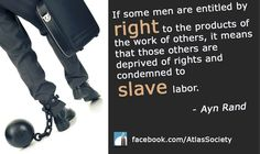 A thought-provoking quote from Ayn Rand.