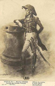 Un officier français. Époque Empire il me semble...   Par Maurice Orange.