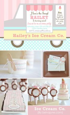 DIY Printable full collection Ice Cream Shoppe by BelvaJune, $30.00