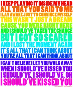 One Direction lyrics <3 love love love this song!!