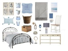 """""""Marin Bedroom ⚓️"""" by caroline-drexel on Polyvore featuring interior, interiors, interior design, maison, home decor, interior decorating, Dorel Living, Kahina Giving Beauty, Yankee Candle et A by Amara"""