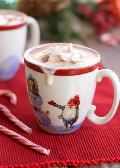 Polar Express Hot Chocolate -  This sounds like the richest drink in the world.  I'm gaining weight just by reading abut it.     -1.5 cups of heavy cream  -- 1 can of sweetened condensed milk (14 oz)   -- 2 cups of bittersweet chocolate chips   -- 6 cups of milk   -- 1 tsp vanilla extract   -- 1/8 tsp salt
