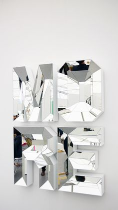 - Mirror Designs - Mirror, Mirror: Reflective Art by Mathias Kiss, Doug Aitken & more At the Gallery Mirror Letters, Mirror Art, Acrylic Letters, Frise Art, Mathias Kiss, Spiegel Design, Frieze Art Fair, Signage Design, Oeuvre D'art