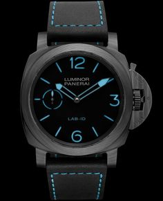 the Panerai Lab-ID Luminor 1950 Carbotech 3 may just be one of the most beautiful watches ever made, and for only 000 you can have one to call your own. Panerai Luminor, Panerai Watches, Best Watches For Men, Luxury Watches For Men, Cool Watches, Black Watches, Man Watches, Latest Watches, Most Beautiful Watches