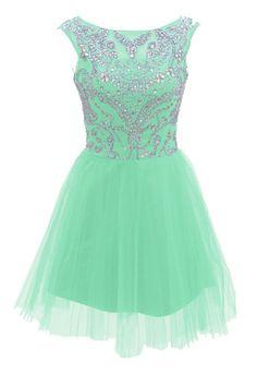 Amazon.com: Dressystar Short Blue Prom Evening Prom Dresses: Clothing