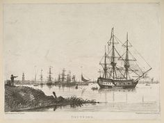 1800  View of the Harbour at DeptFord, London, UK.    By William Crotch.                                                         via The British Library                                en.wikimedia.org     (PD-180)                            suzilove.com