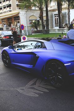 Matte Blue Lamborghini Aventador