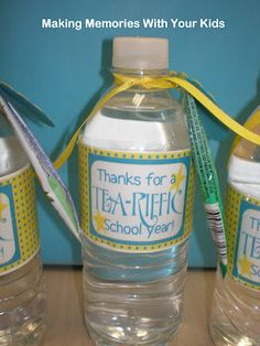 Thanks for a Tea-riffic school year - free printable. Great for end of the school year teacher gift!