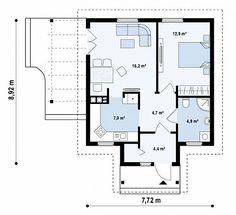 Casa pequena moderna de 1 quarto 💖💖