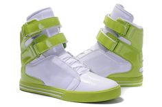 Justin Bieber Supra TK Society Shoes Sneakers White Fluorescent Green