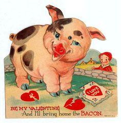 Bacon valentine by pageofbats, via Flickr