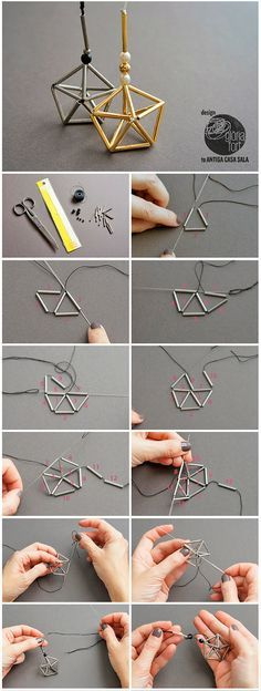 Himmeli-star-process -_- Gloria-Fort We have the 150 best WordPr . - Himmeli-star-process -_- Gloria-Fort We have the 150 best WordPr … – # - Beading Projects, Beading Tutorials, Jewelry Patterns, Beading Patterns, Bead Crafts, Jewelry Crafts, Jewelry Ideas, Diy Fort, Beaded Jewelry