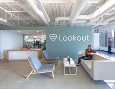 Lookout's San Francisco office - reception