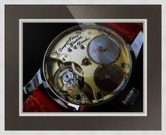 "A. Lange & Sohne Swiss Watch // Paper: enhanced matte; Glazing: acrylic; Moulding: white, wide square white; Top Mat: black/gray, prato grotto; Middle Mat: white/cream, porcelain; Bottom Mat: black/gray, granite // Price starts at $126 (Petite: 19.5"" x 21.5""). // Customize at http://www.imagekind.com/A-Lange--Sohne-Swiss-Timepiece_art?IMID=f59c96d5-ffd1-4161-90e3-0361617473b8"