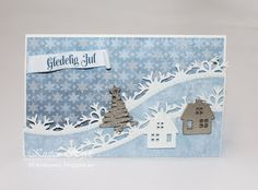 My Craft and Garden Tales: Christmas card with Papirdesign and Rayher dies