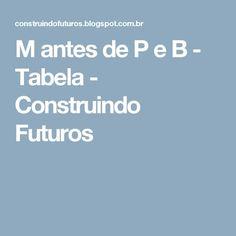 M antes de P e B - Tabela - Construindo Futuros
