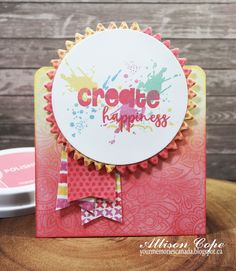 """Create Happiness"" card by Allison Cope featuring the Zen Garden release by Catherine Pooler Designs."