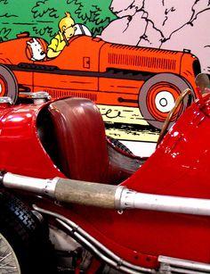Tintin's cars by PTR, via Flickr • Tintin, Herge j'aime