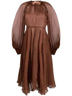 N21, Mid Length Dresses, Cuff Sleeves, Norfolk, Brown, Long Sleeve, Jackets, Shopping, Women