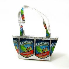 Caprisun Fruit Punch Bag  •  Free tutorial with pictures on how to make a recycled bag in under 60 minutes