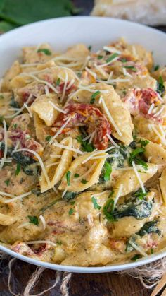 Instant Pot Tuscan Chicken Pasta is very easy to make, creamy and delicious with perfect juicy chicken, sun dried tomatoes and spinach. pot recipes for beginners pork Instant Pot Tuscan Chicken Pasta Instant Pot Pasta Recipe, Instant Pot Dinner Recipes, Recipes Dinner, Instant Recipes, One Pot Recipes, Instant Pot Meals, Tuscan Recipes, Meat Recipes, Recipe Pasta