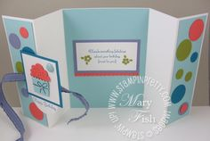 Stampin Up Card Folding Ideas | ... Mary Fish, Stampin Pretty Blog, Stampin Up! Card Ideas Tutorials