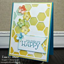 stampin up hexagon thinlit - Google Search