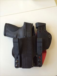 Concealment in the pants holster with spot for a spare mag. This one was designed for my MP compact. Tactical Equipment, Tactical Gear, Smith & Wesson Bodyguard, M&p 9mm, Concealed Carry Holsters, Kydex Holster, Tac Gear, Military Guns, Guns And Ammo