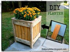 Thats My Letter: P is for Planter, diy planter from fence piece