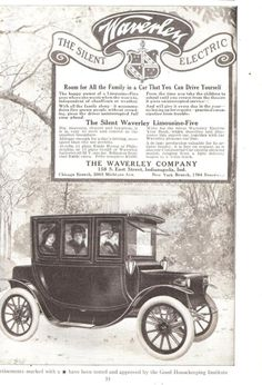 Waverley Electric car ad (December 1912)