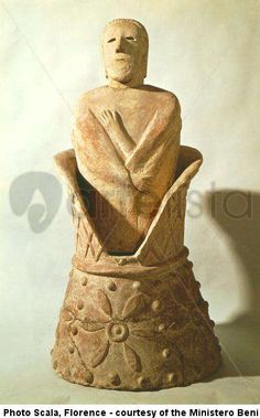 Etruscan art canopic jar from Chiusi Archaeological Museum