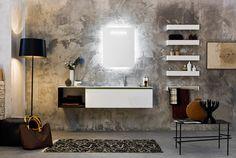Un arredo per bagno moderno che si rispetti dovrebbe essere formato da componenti dalle forme geometriche e lineari.