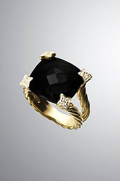 David Yurman -onyx & diamonds