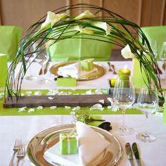 """Blumenständer """"Calla"""" lang - eine tolle Hochzeitsdeko für lange Tischreihen"""