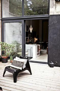 Cute  id es d co pour une terrasse scandinave en noir et blanc