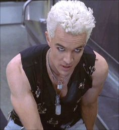 James Marsters as Spike in Buffy the Vampire Slayer.