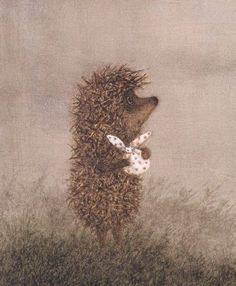 "Francesca Yarbusova, illustration for ""Hedgehog in the Fog""."