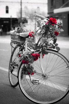 DIY: Valentine's Rose Garland Bike