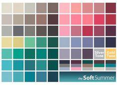 цветовая палитра для цветотипа мягкое лето