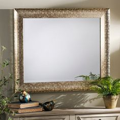 kirklands Pewter Framed Mirror, 30x36