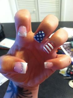 of July Nails! The Very Best Red, White and Blue Nails to Inspire You This Holiday! Fourth of July Nails and Patriotic Nails for your Fingers and Toes! Usa Nails, Patriotic Nails, Nails For Kids, French Tip Nails, French Tips, Nail Polish Colors, Nail Polishes, Red Polish, Nagel Gel