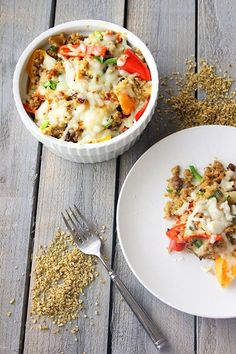 Mini Bell Pepper Casserole and Quinoa Casserole by www.foodapparel.com on www.cookingwithruthie.com is a savory family friendly recipe.