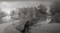 digital sketch Amsterdam