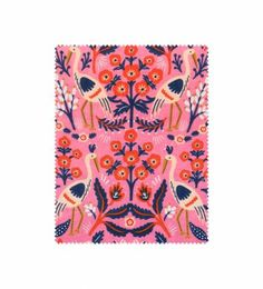 Rifle Paper Co. - Tapestry fabric in rose features whimsical illustrations on 100% cotton fabric