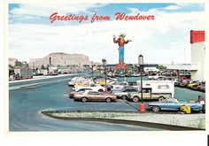 Vintage Wendover postcard!  That's my 1964 blue El Camino in the parking lot.