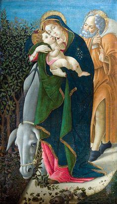 The Flight Into Egypt, Sandro Botticelli, Musée Jacquemart-André