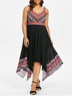 Plus Size Tribal Print Handkerchief Dress Plus Size Dresses, Cute Dresses, Handkerchief Dress, Babydoll Lingerie, Two Piece Swimsuits, Tribal Prints, Fashion Dresses, Clothes, Join