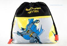 Bolsa Batman para Super Héroe #bolsa #merienda #guardería #niño #personalizada #bordada